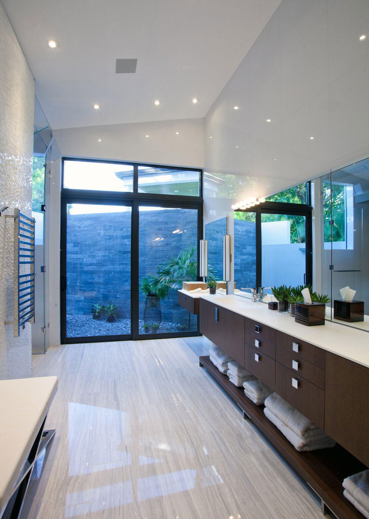 Bathroom, Modern Retreat in Davie, Florida
