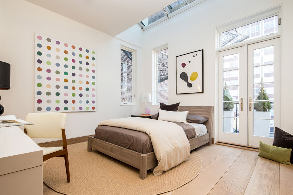 Bedroom, Art, Penthouse Apartment in TriBeCa, New York City