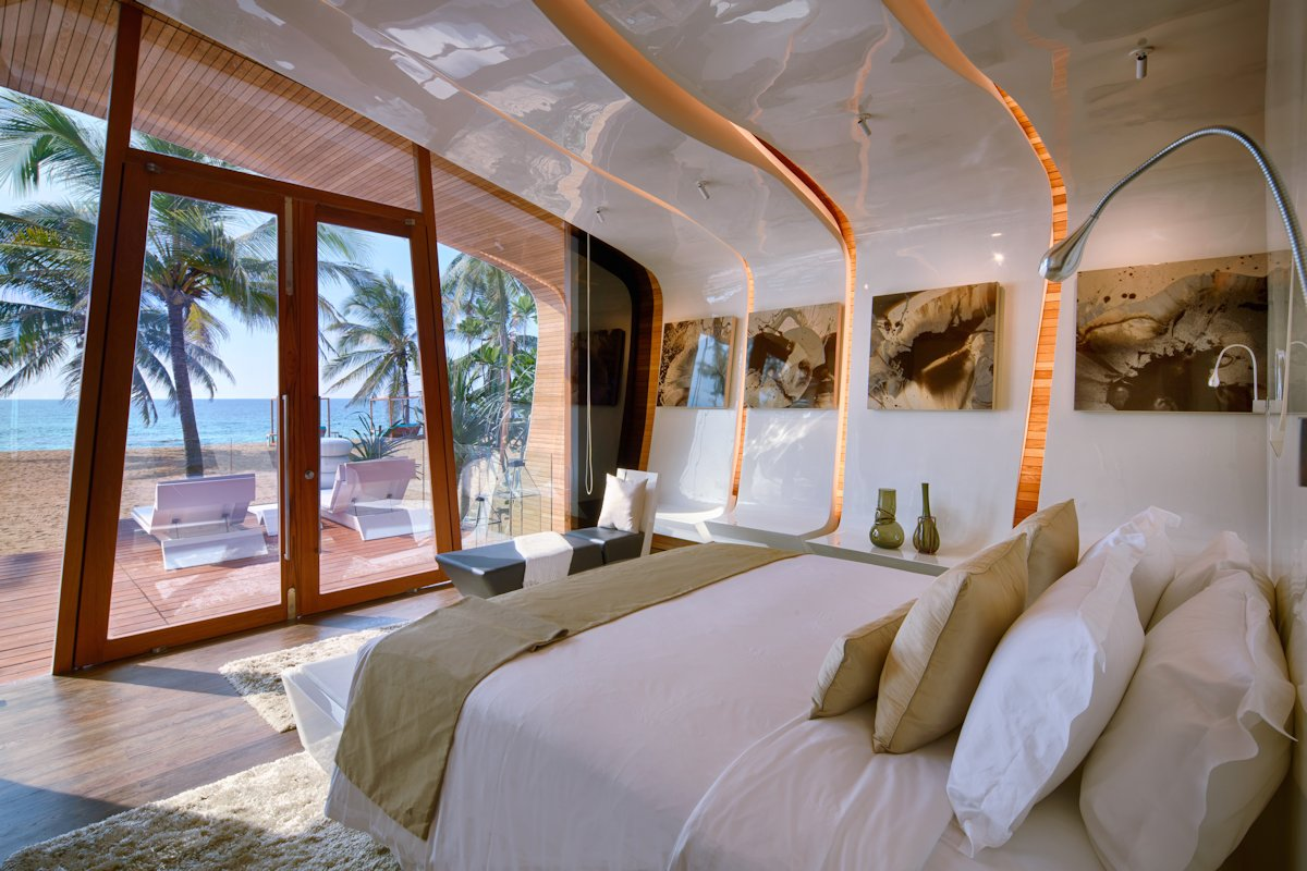 Bedroom Lighting, Art, Beach & Sea Views, Iniala Beach House in Phuket, Thailand