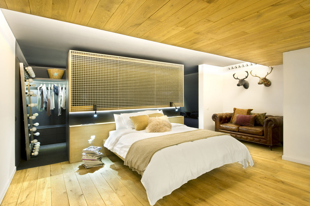 Bedroom, Loft Style Home in Terrassa, Spain
