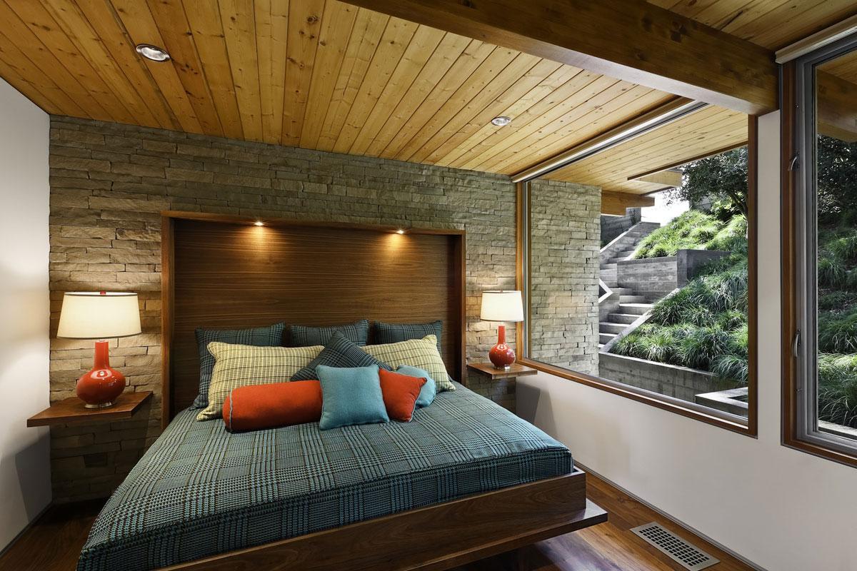 Bedroom, Mid-Century Modern Home in Santa Barbara, California