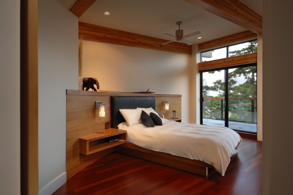 Bedroom, Modern Home in Victoria, British Columbia