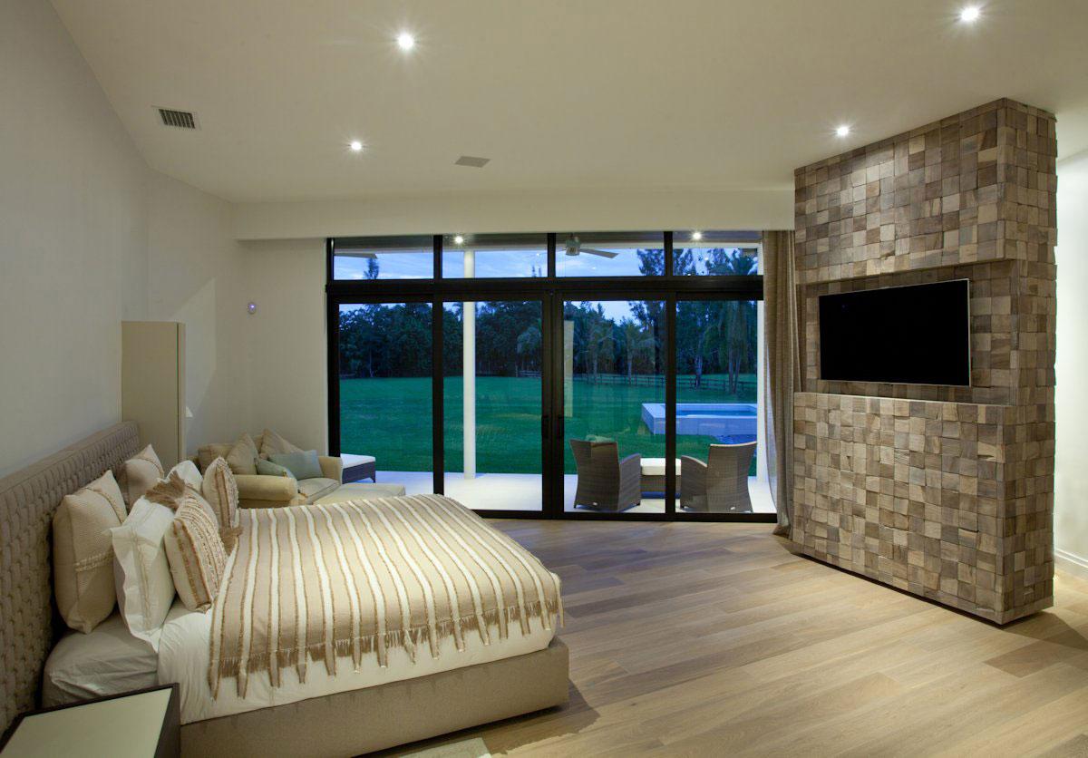 Bedroom, Modern Retreat in Davie, Florida