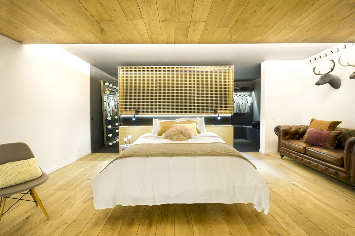 Bedroom, Sofa, Loft Style Home in Terrassa, Spain