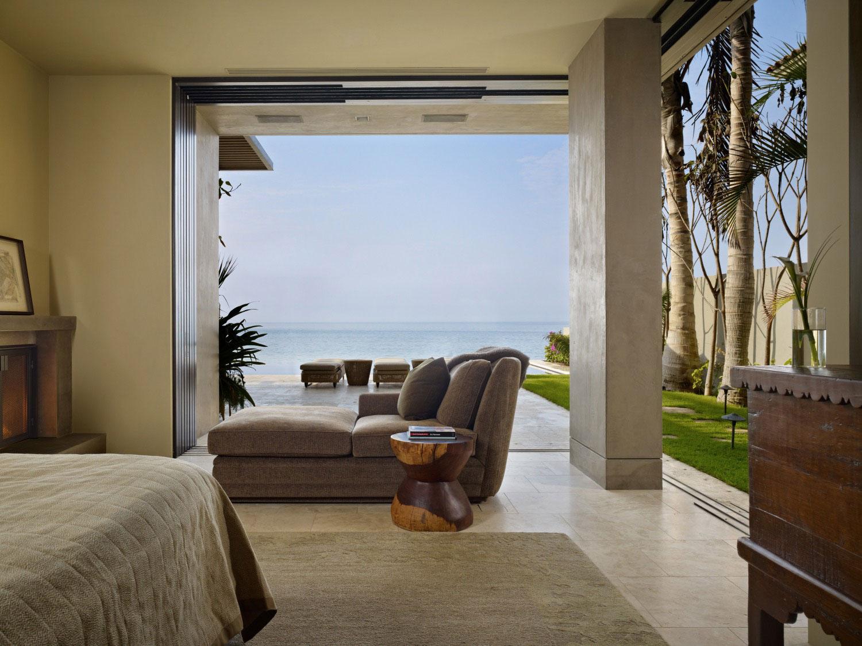 Bedroom, Terrace, Sea Views, Beachfront Home in Cabo San Lucas, Mexico