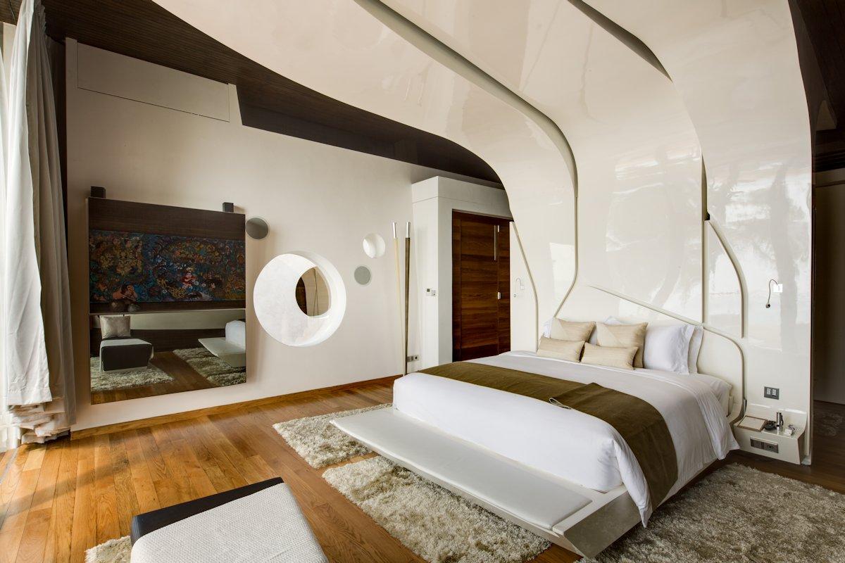 Bedroom, Wood Flooring, Rugs, Iniala Beach House in Phuket, Thailand
