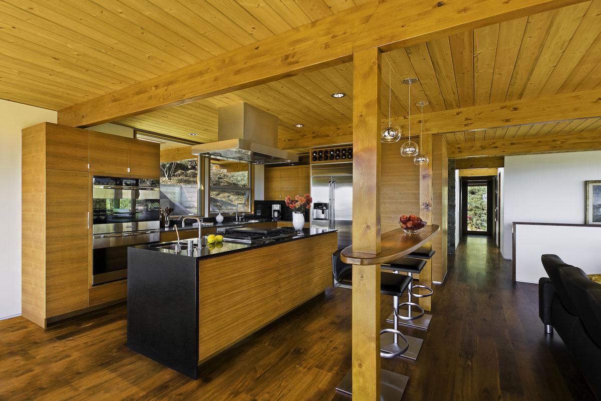 Kitchen Bath Remodel Gives Mid Century Home Modern Updates: Breakfast Bar, Kitchen Island, Mid-Century Modern Home In