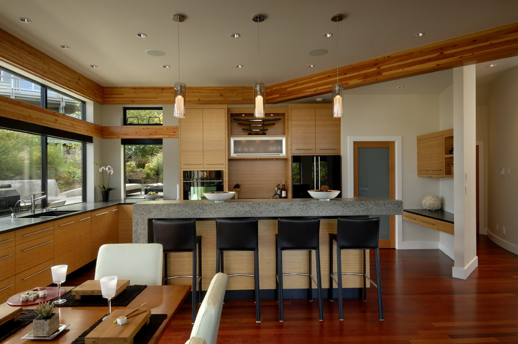 Breakfast Bar, Kitchen, Modern Home in Victoria, British Columbia
