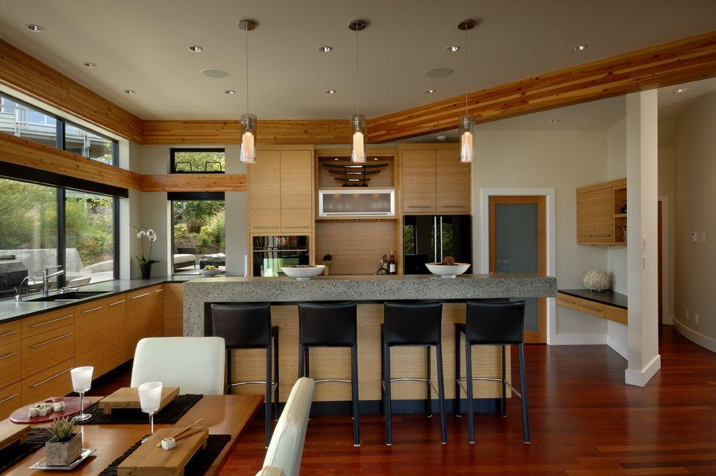 Breakfast Bar, Kitchen, Modern Home in Victoria, British Columbia