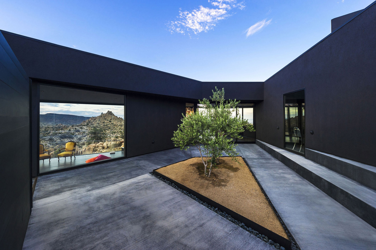 Central Courtyard, Mountain Home in Twentynine Palms, California