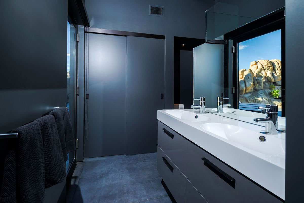 Dark Bathroom, Mountain Home in Twentynine Palms, California