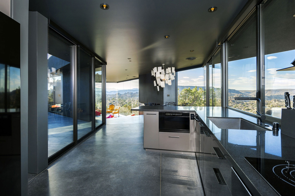 Dark Kitchen, Mountain Home in Twentynine Palms, California