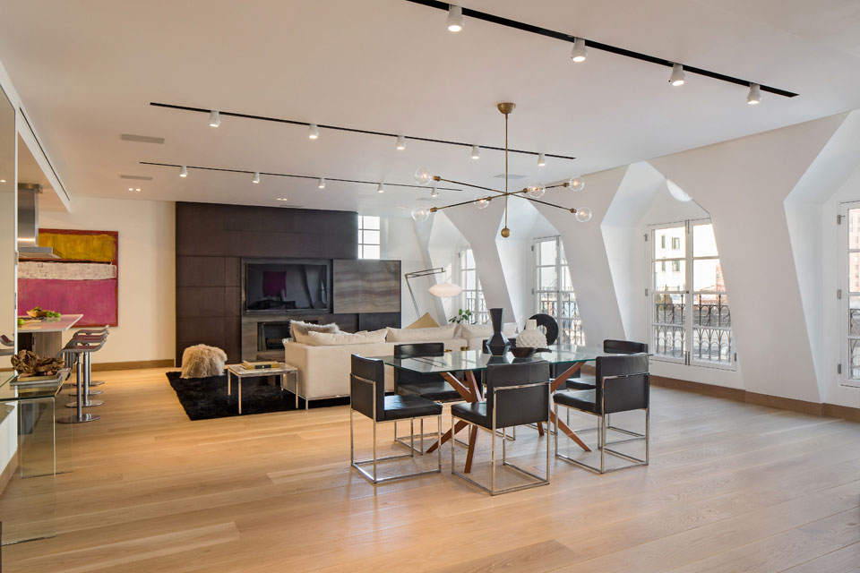 Dining, Living Space, Penthouse Apartment in TriBeCa, New York City