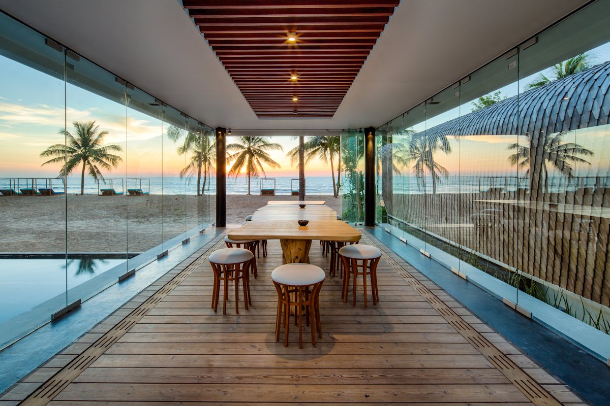 Dining Room, Glass Walls, Beach Views, Iniala Beach House in Phuket, Thailand