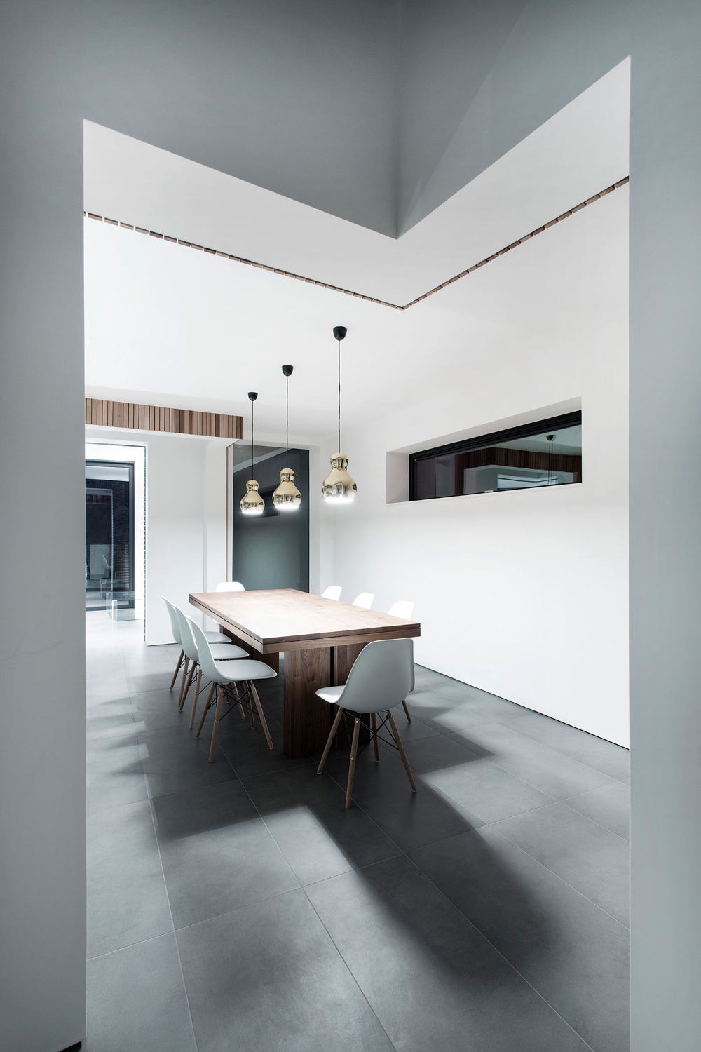 Dining Space, Pendant Lighting, Modern Home in Hampshire, England