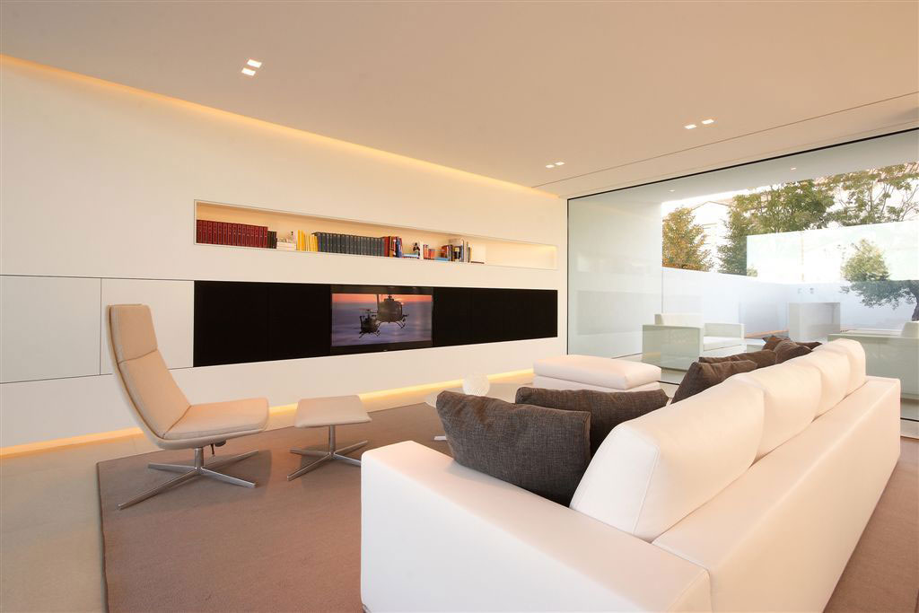 Entertainment Room, Floor-to-Ceiling Window, Contemporary Villa in Jesolo Lido, Venice, Italy