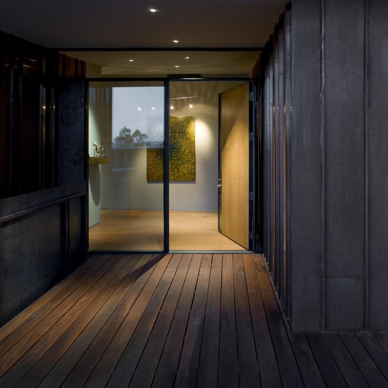 Entrance, Glass & Wood, Jarson Residence in Paradise Valley, Arizona