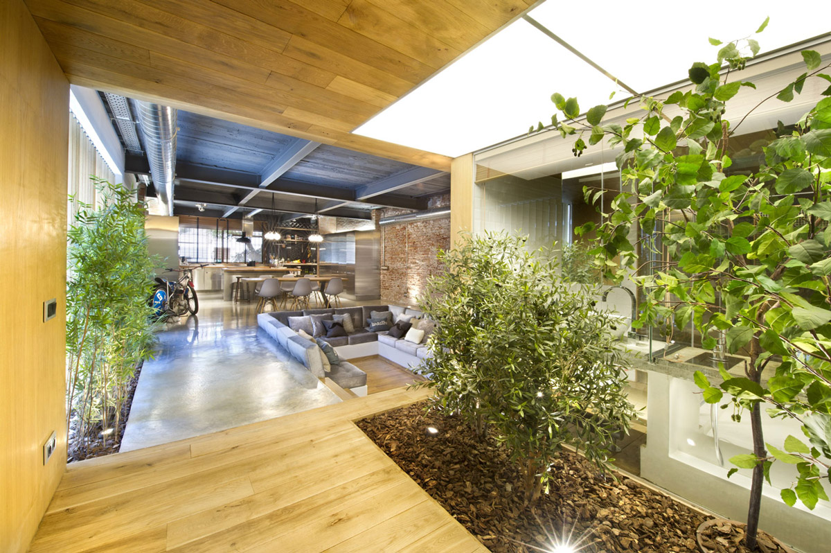 Entrance Hall, Loft Style Home in Terrassa, Spain