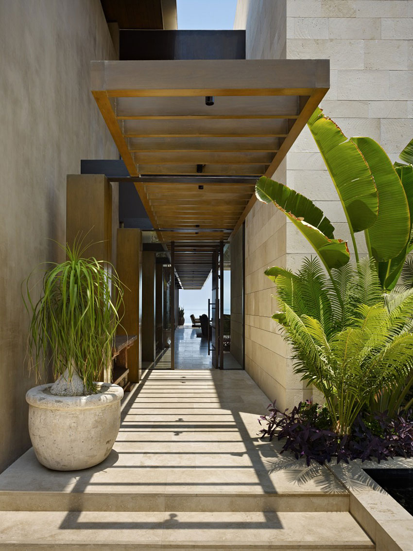 Entrance Path, Beachfront Home in Cabo San Lucas, Mexico
