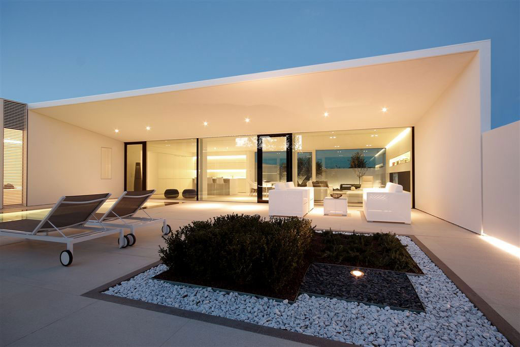 Evening, Lighting, Terrace, Contemporary Villa in Jesolo Lido, Venice, Italy