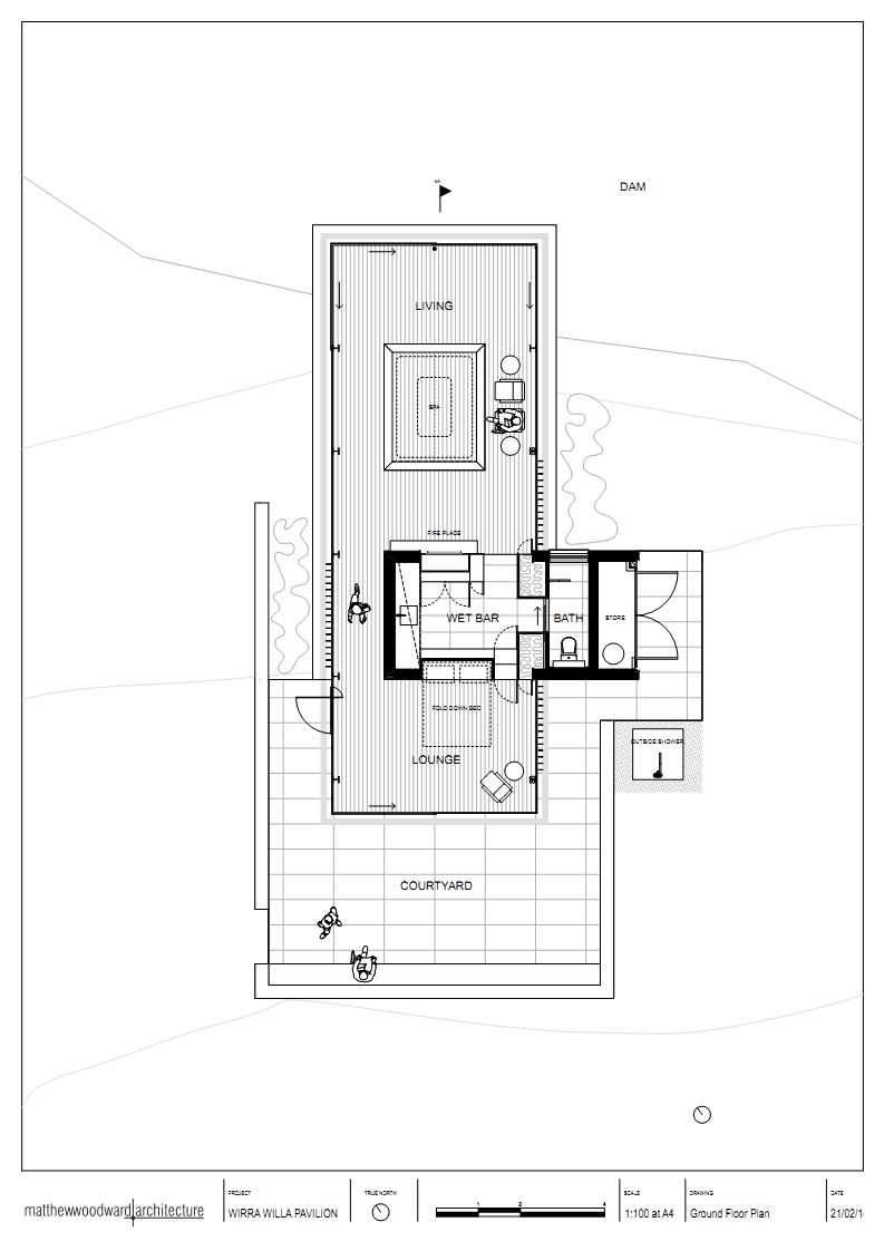 Floor Plan Glass Pavilion In Somersby Australia