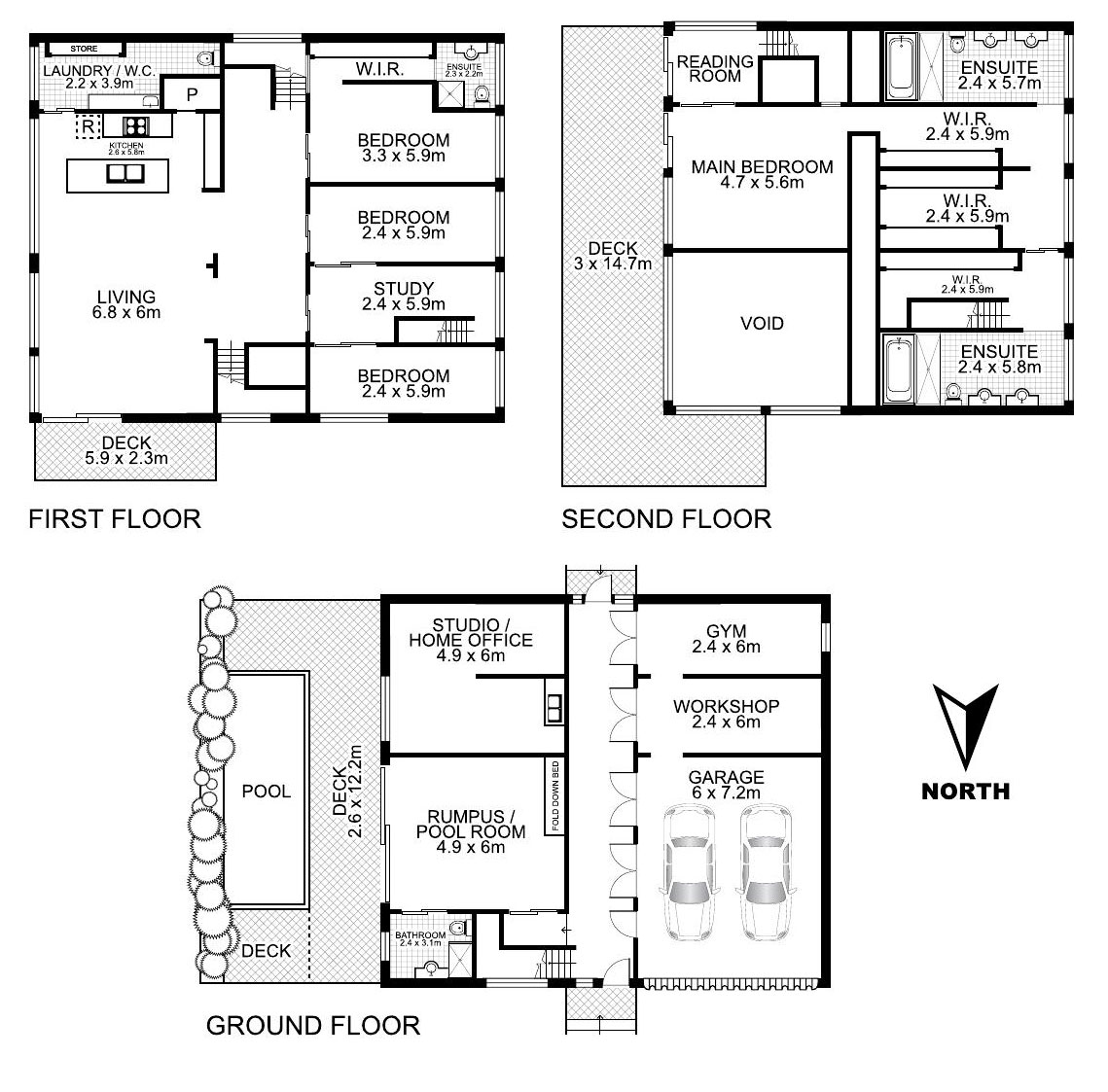 Floor Plans, Shipping Container Home in Brisbane, Queensland