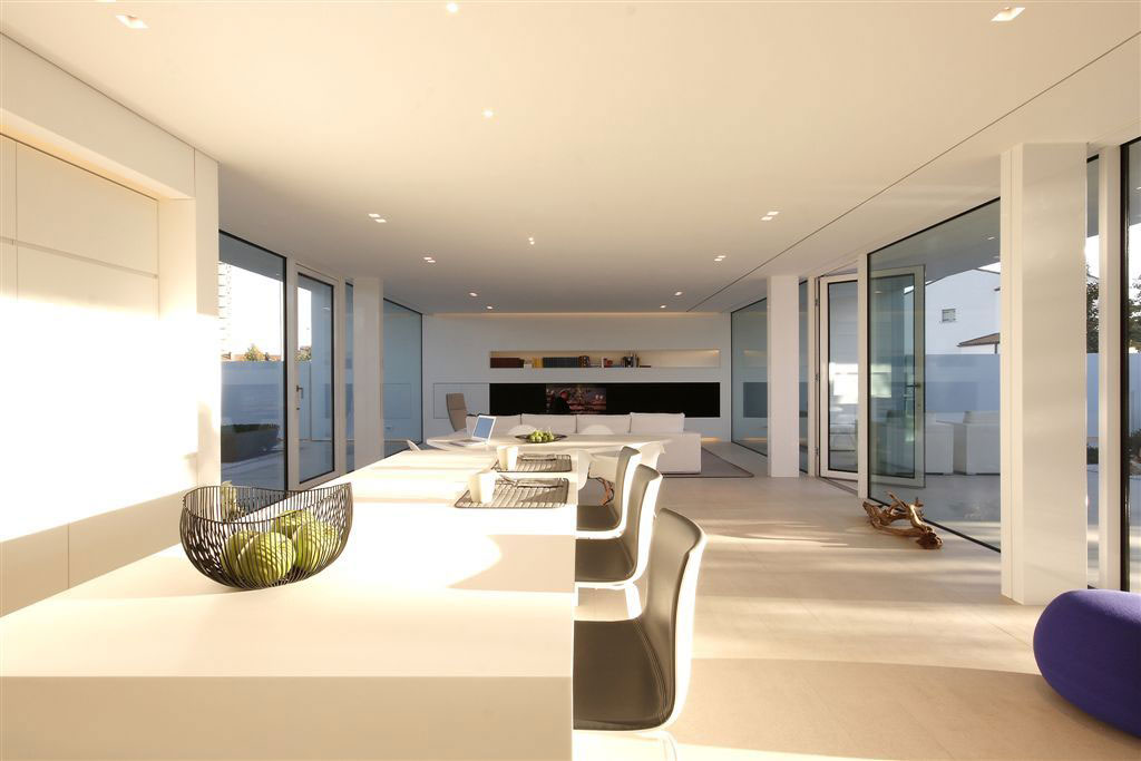 Floor-to-Ceiling Windows, Open Plan Living, Contemporary Villa in Jesolo Lido, Venice, Italy
