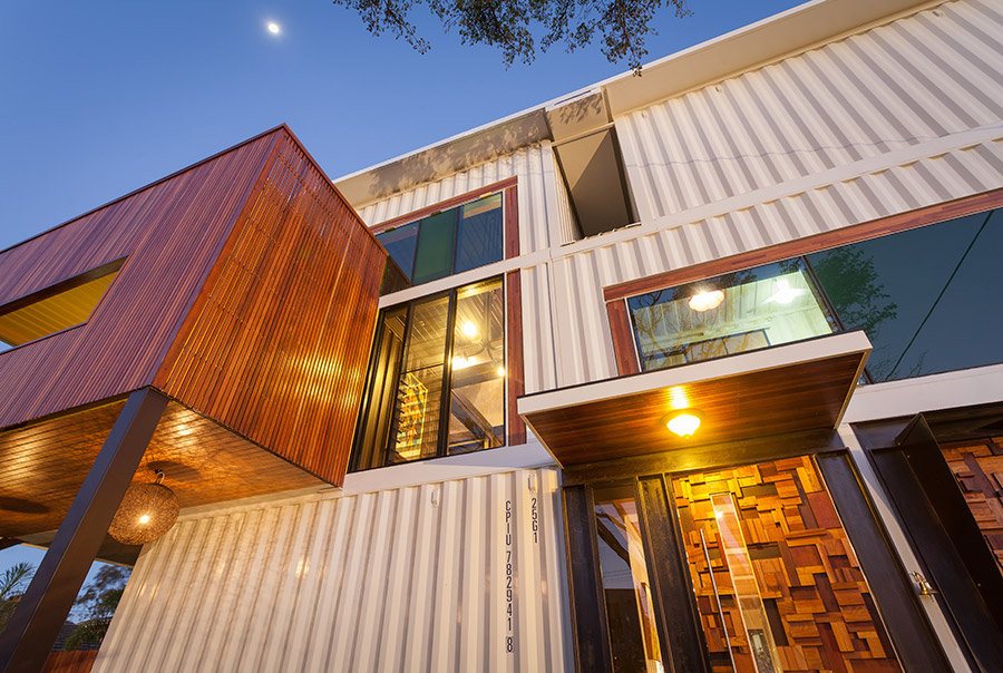 Front Door, Shipping Container Home in Brisbane, Queensland