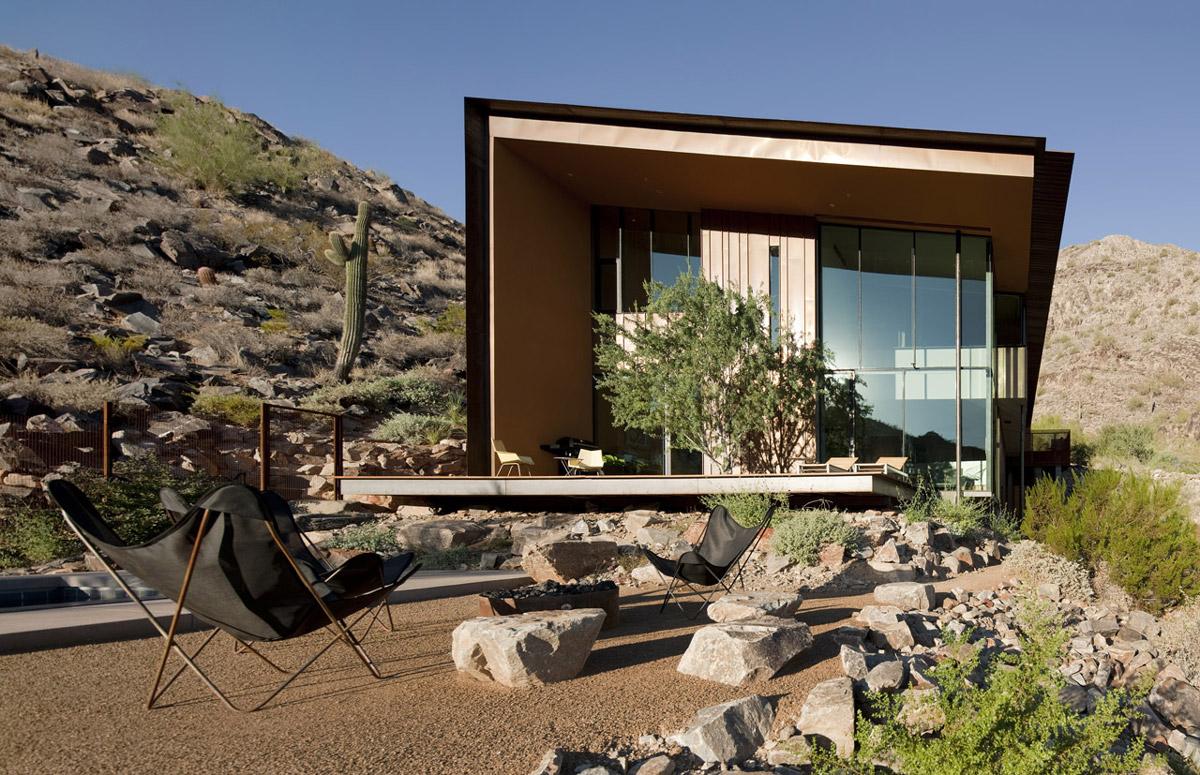 Front Garden, Jarson Residence in Paradise Valley, Arizona
