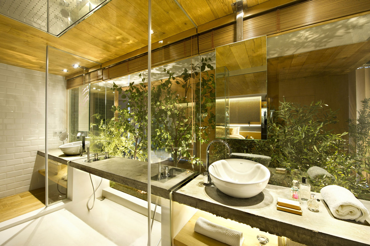 Glass Open Bathroom, Loft Style Home in Terrassa, Spain