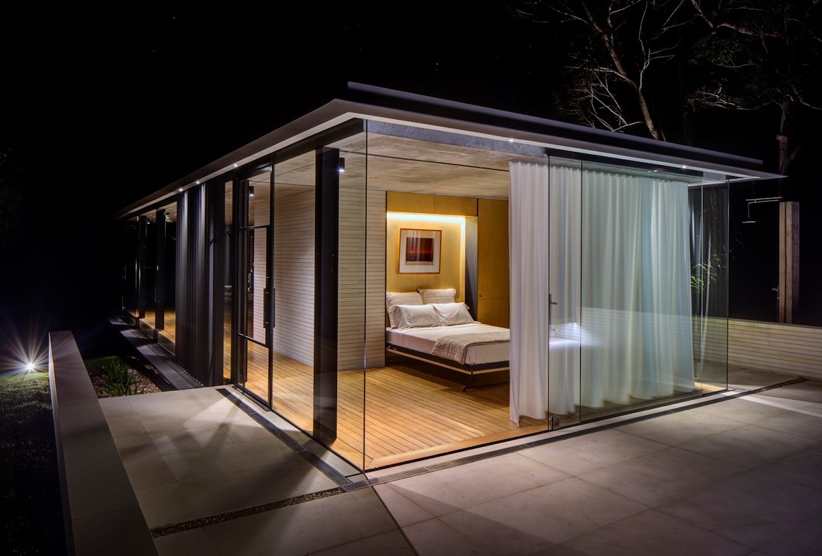Glass Sliding Doors, Floor-to-Ceiling Windows, Glass Pavilion in Somersby, Australia