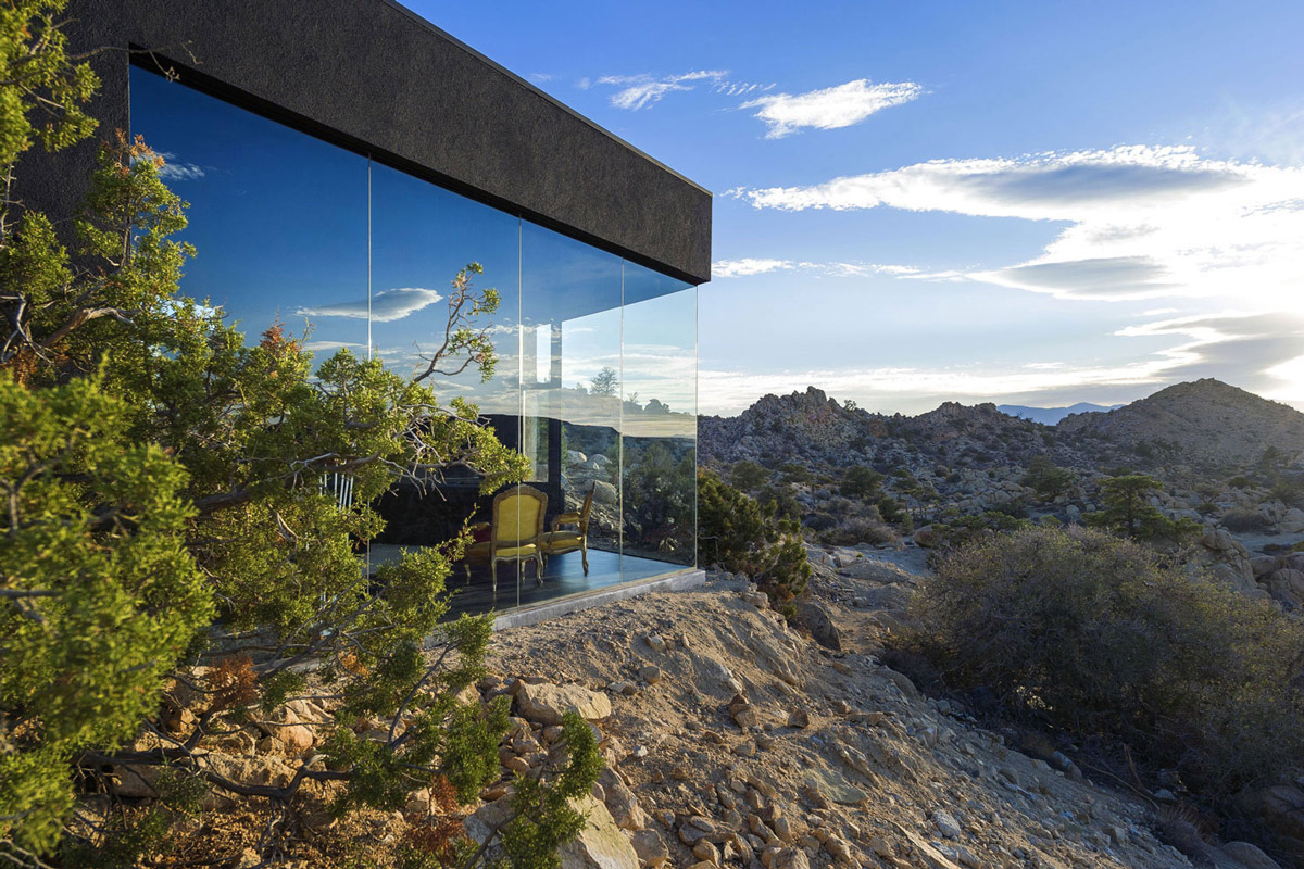 Glass Walls, Mountain Home in Twentynine Palms, California