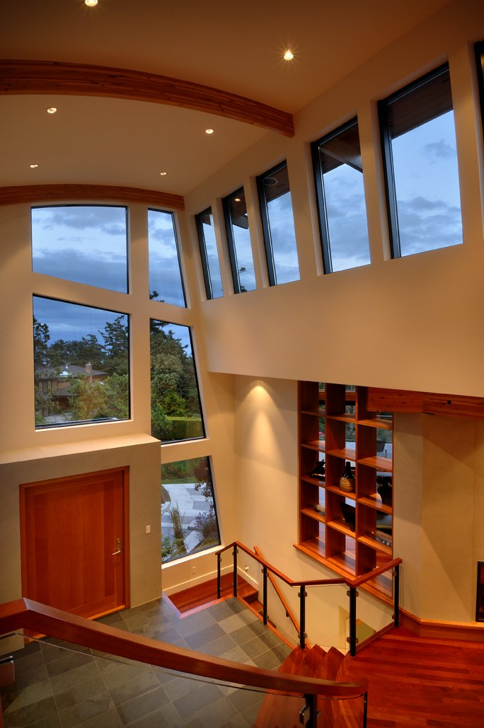 High Ceilings, Entrance Hall, Modern Home in Victoria, British Columbia