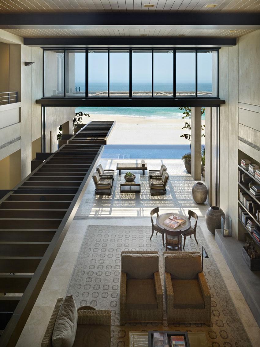 High Ceilings, Living Space, Terrace, Beach & Sea Views, Beachfront Home in Cabo San Lucas, Mexico