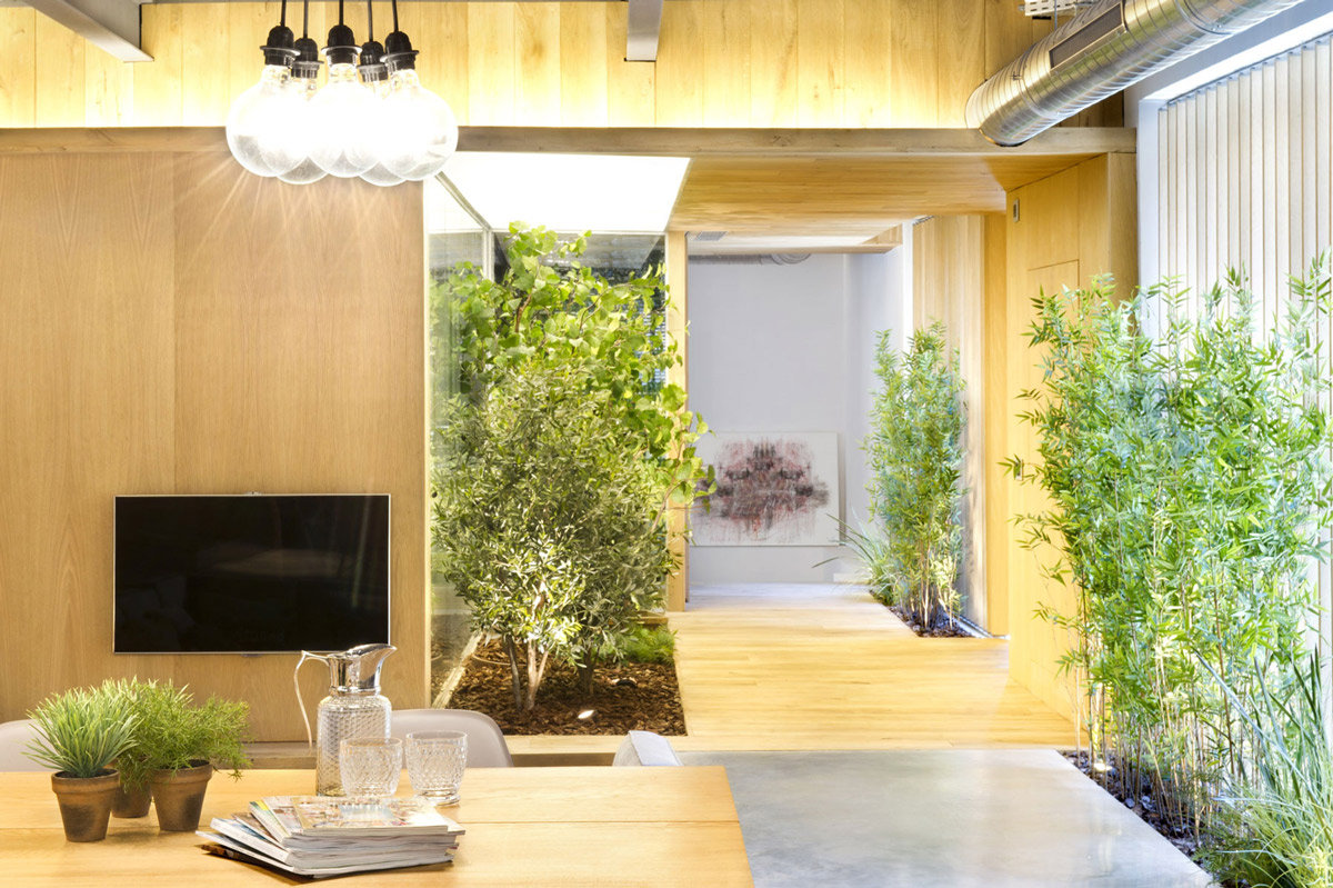 Indoor Garden Loft Style Home In Terrassa Spain