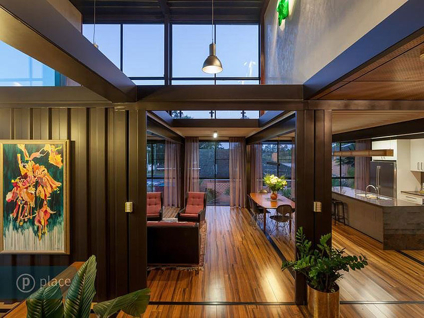 Shipping container home in brisbane queensland for Shipping containers homes plans
