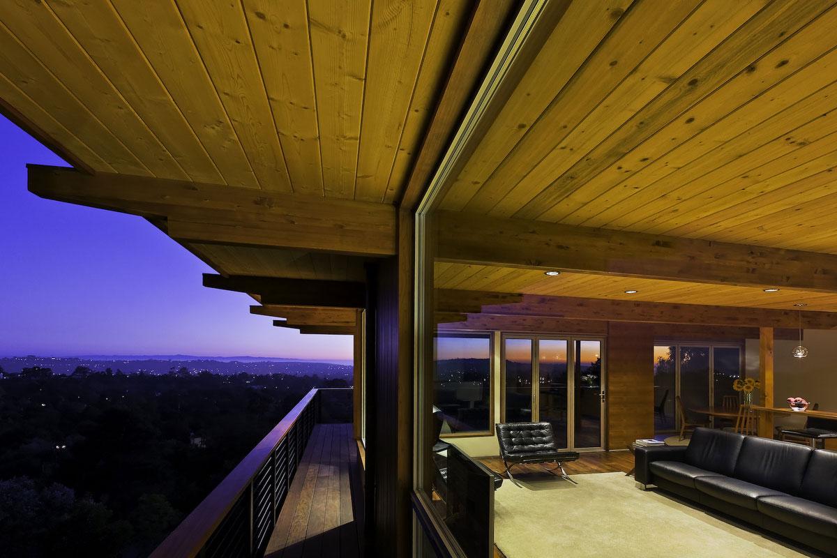 Large Windows, Balcony, Views, Mid-Century Modern Home in Santa Barbara, California