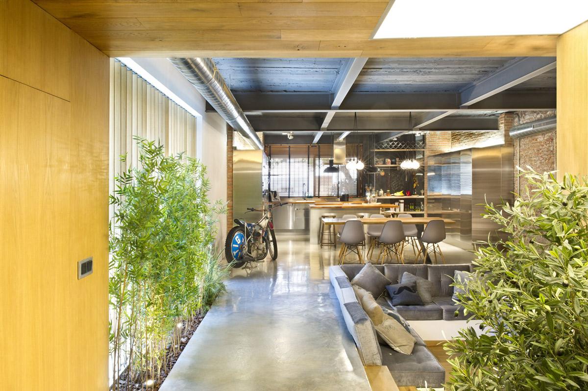 Living, Dining, Kitchen, Loft Style Home in Terrassa, Spain