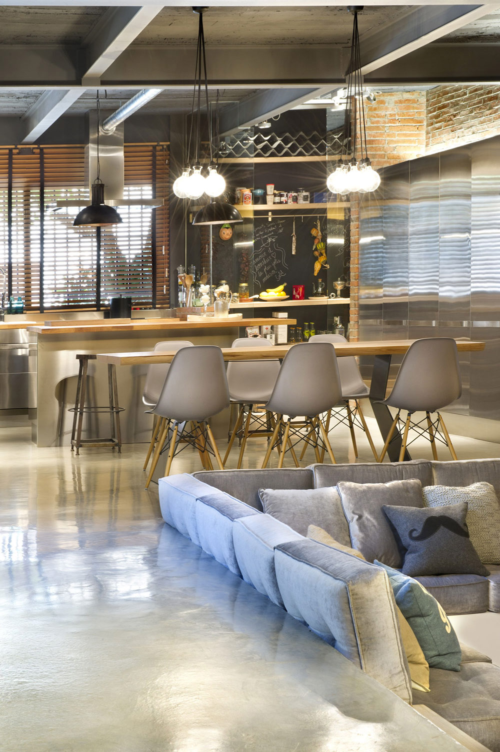 Living, Dining & Kitchen Space, Loft Style Home in Terrassa, Spain