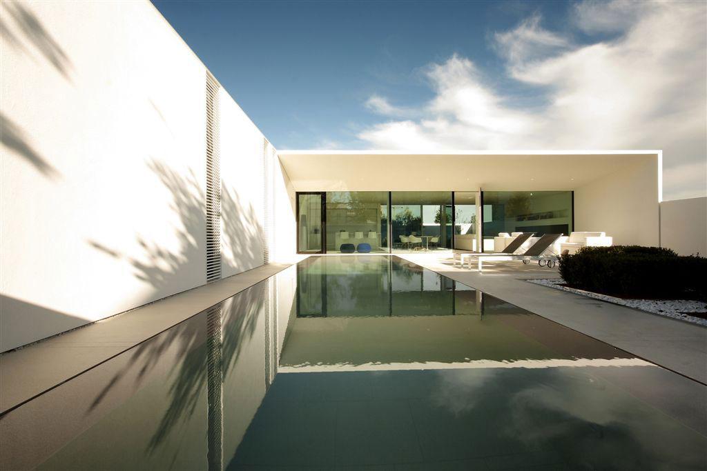 Long Outdoor Pool, Contemporary Villa in Jesolo Lido, Venice, Italy