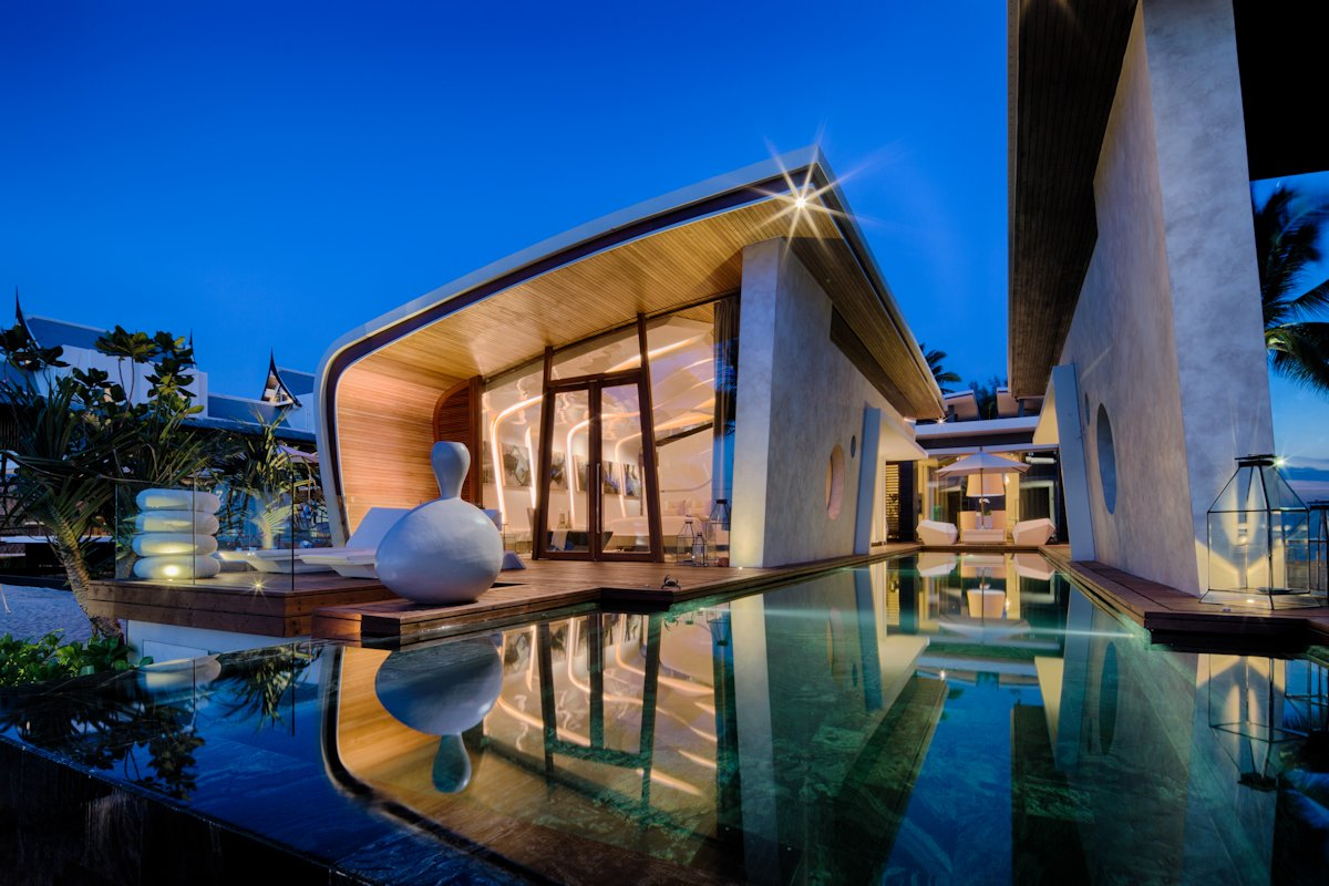 Marble Tiles, Outdoor Pool, Iniala Beach House in Phuket, Thailand