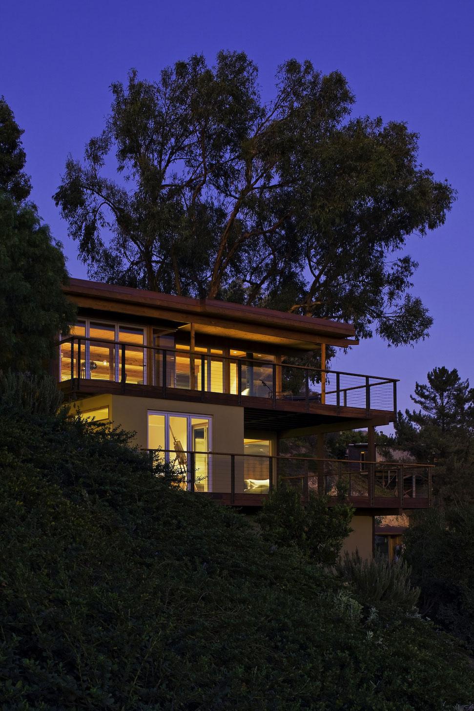 Evening, Lighting, Mid-Century Modern Home in Santa Barbara, California