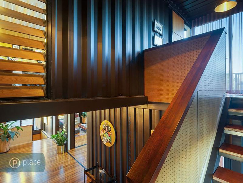 Modern Stairs, Shipping Container Home in Brisbane, Queensland