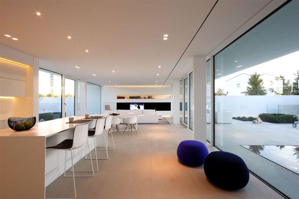 Open Plan Living, Kitchen, Dining Space, Contemporary Villa in Jesolo Lido, Venice, Italy