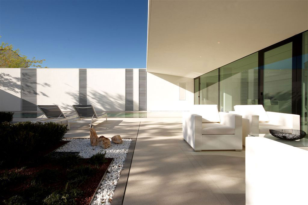 Outdoor Living Space, Furniture, Contemporary Villa in Jesolo Lido, Venice, Italy