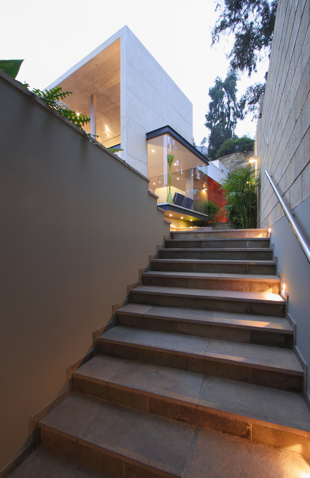 Outdoor Stairs, Family Home in Lima, Peru