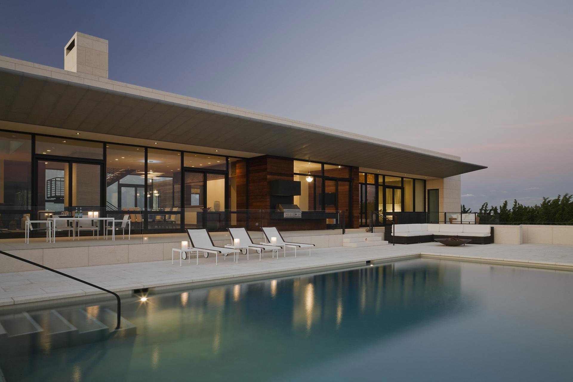 Outdoor Swimming Pool, Terrace, Summer Retreat in Southampton, New York