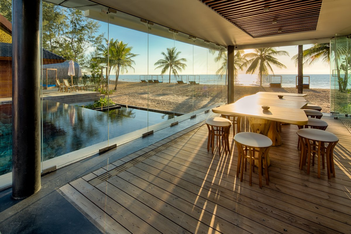 Fantastic Pool Glass Walls Dining Space Beach Sea Views Iniala Beach Largest Home Design Picture Inspirations Pitcheantrous