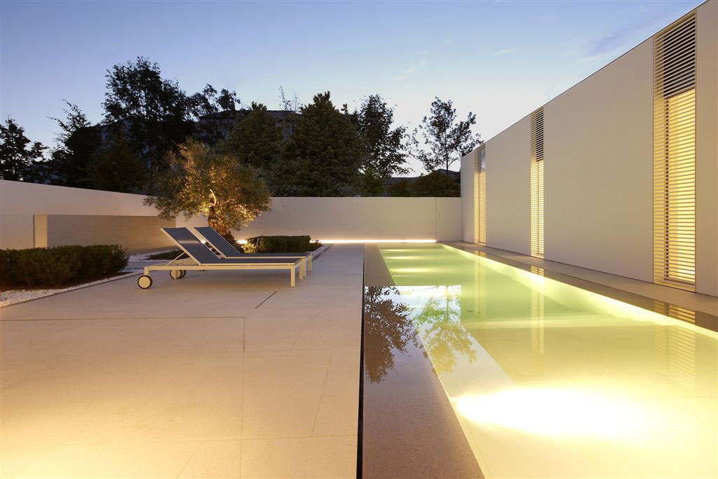 Pool Lighting, Terrace, Contemporary Villa in Jesolo Lido, Venice, Italy