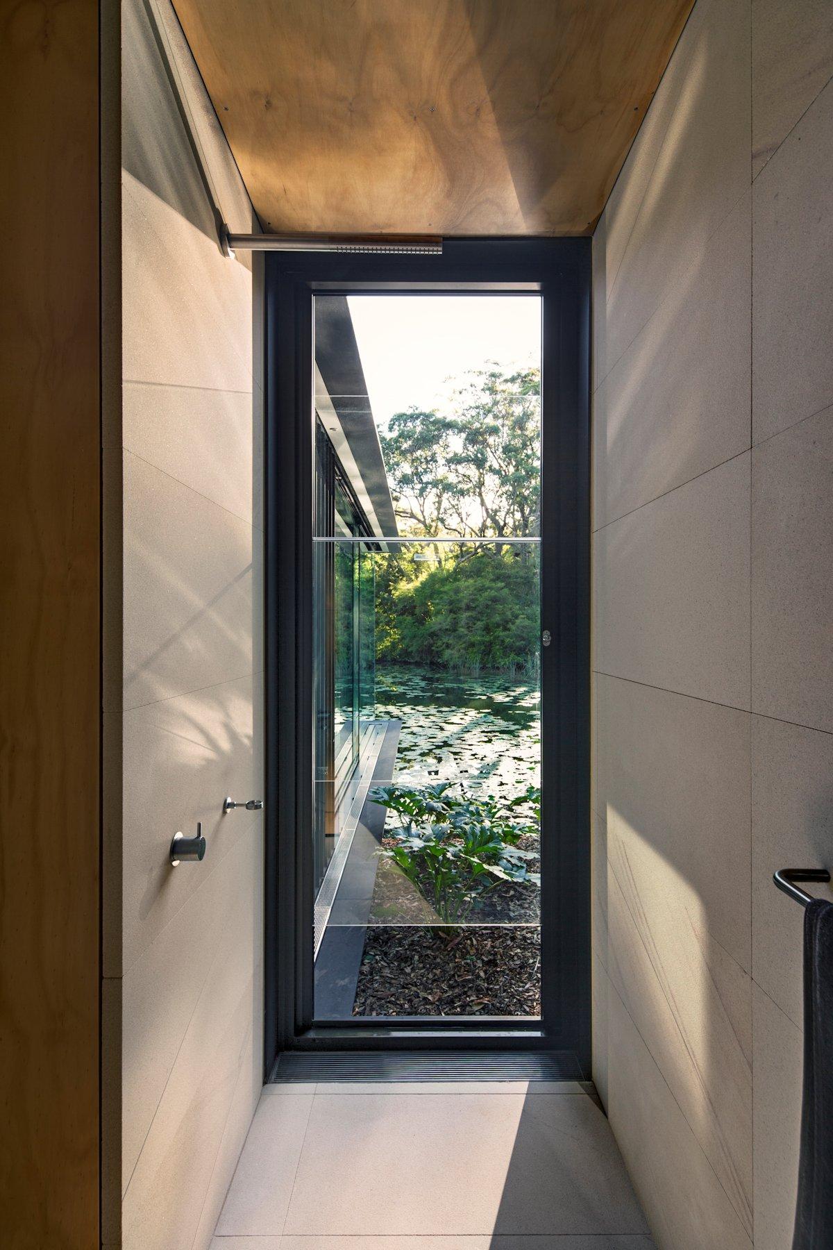 Shower Room, Glass Pavilion in Somersby, Australia
